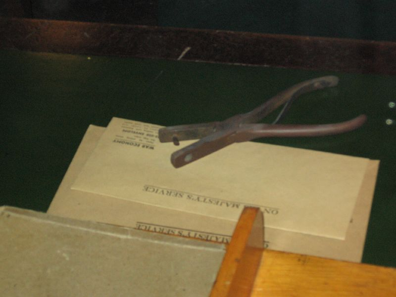 Hole punch in Cabinet War Rooms
