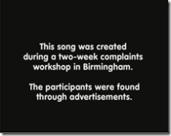 Birmingham Complaints Choir - This song was created during a two-week complaints workshop in Birmingham.