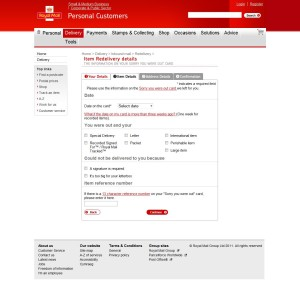 Royal Mail Collection Services screenshot