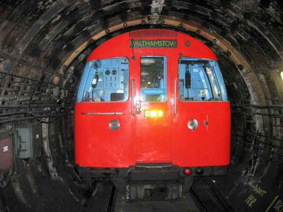 Tube train showing tight fit with tunnel walls