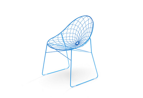 simple chair against neutral background
