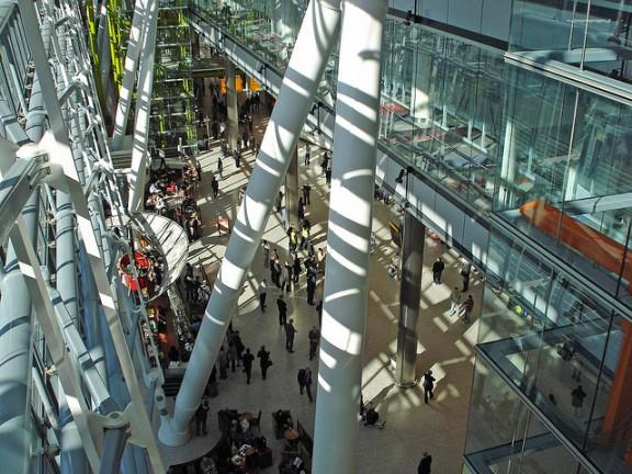 Terminal 5 arrivals