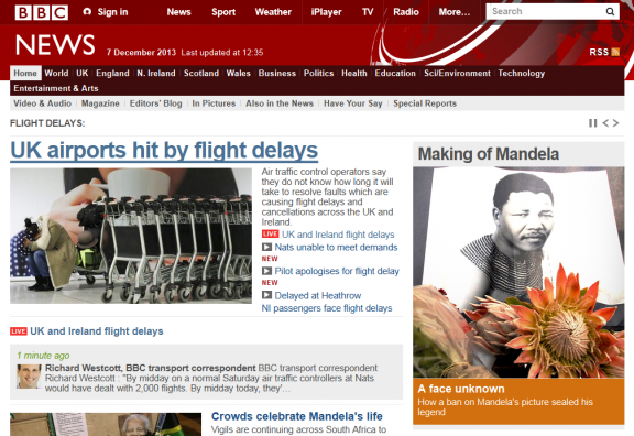 BBC news - UK airports hit by flight delays