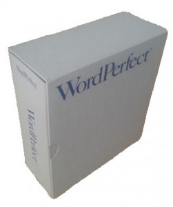 WordPerfect box, 1989