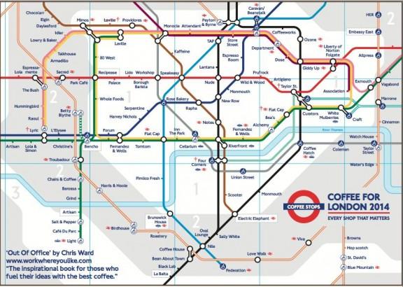 London coffee tube map