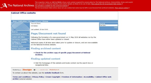 Page/Document not found