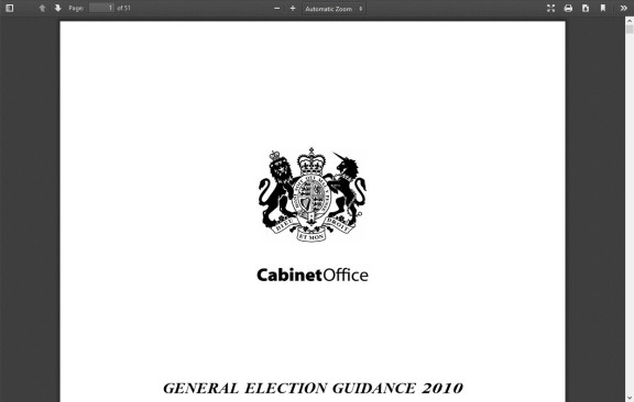 General Election Guidance 2010